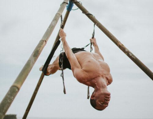 Aerial yoga for ULU Yoga's aerial yoga teacher training course in Bali